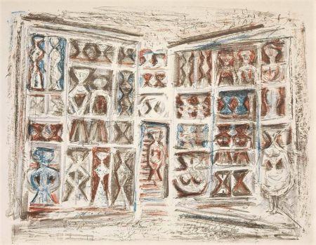 Lithographie Campigli - Finestre