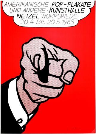 Sérigraphie Lichtenstein - Finger Pointing (Hey You!)