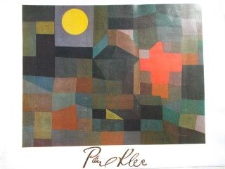 Affiche Klee - Fire at full moon 1933