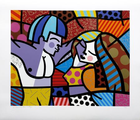 Sérigraphie Britto - FIRST LOVE