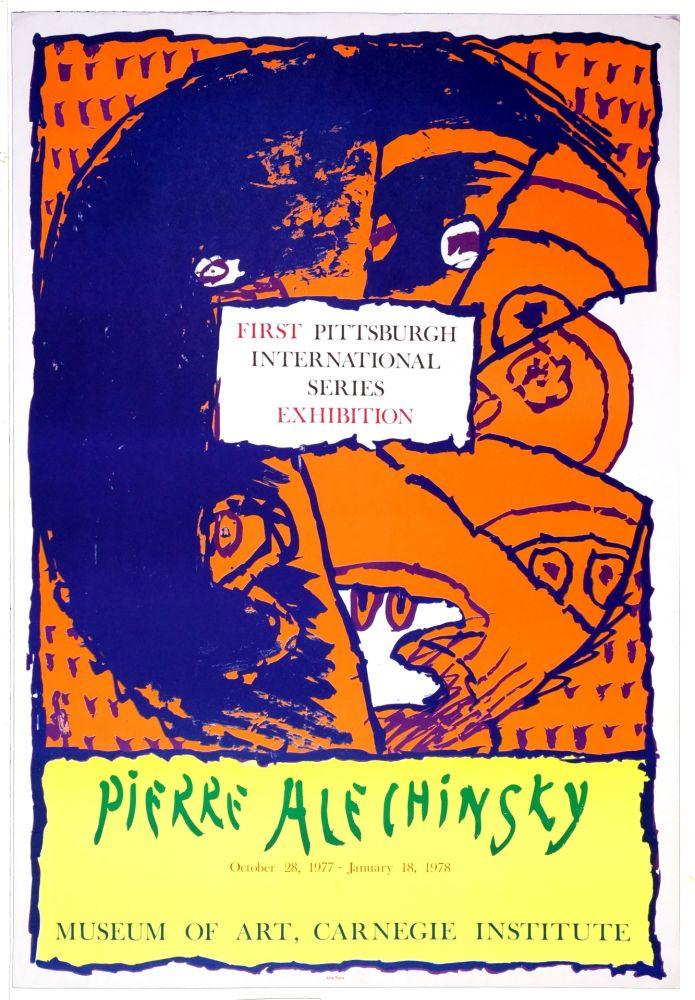 Affiche Alechinsky - First Pittsburg International Series Exhibition, 1977