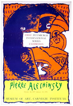 Affiche Alechinsky - First Pittsburg International Series Exhibition, 1977