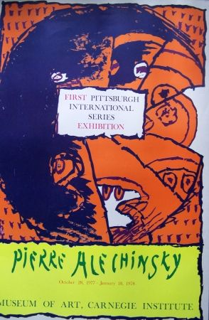 Affiche Alechinsky - First pittsburgh exhibition
