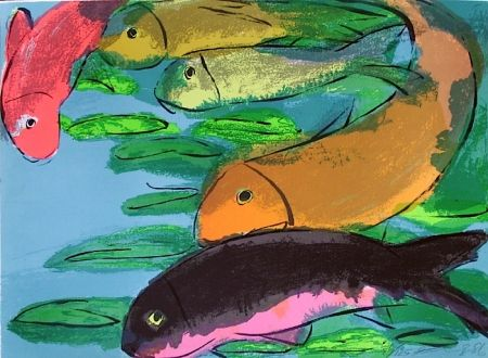 Lithographie Ting - Fisches
