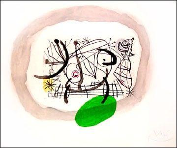 Aquatinte Miró - Fissures