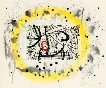 Gravure Miró - Fissures