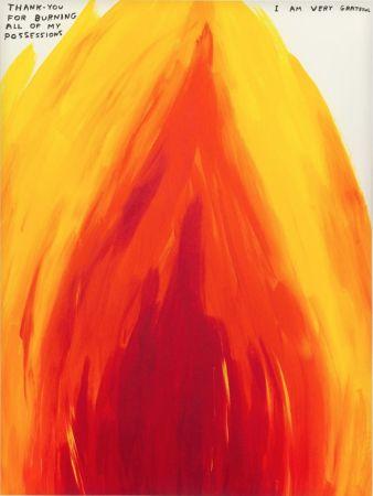 Sérigraphie Shrigley - Flame