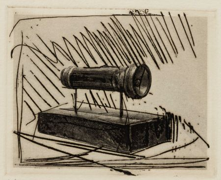 Gravure Johns - Flashlight (Small), 1st Etchings, 2nd State