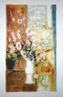 Lithographie Lê Phô - Fleur de Pommier