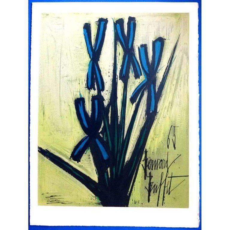 Lithographie Buffet - Fleurs