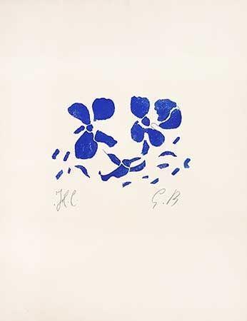 Gravure Sur Bois Braque - Fleurs