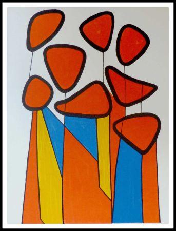 Lithographie Calder - Fleurs de courge