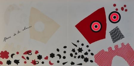 Lithographie Baj - Fleurs de la chance