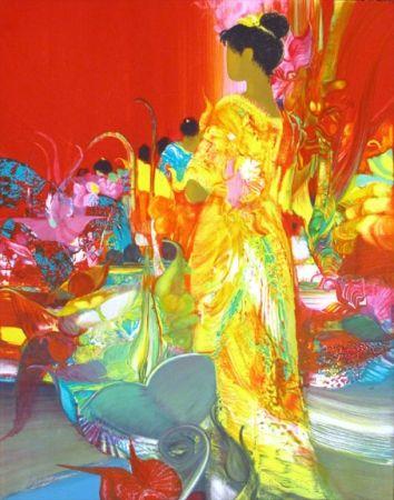 Lithographie Lenalbaut - Fleurs Precieuses