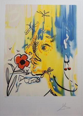 Lithographie Dali - Fleurs Surréaliste Vanishing Face
