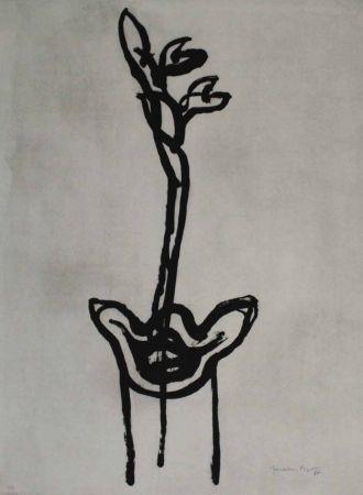Aquatinte Hernandez Pijuan - Flor 2