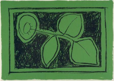 Lithographie Joan Hernández - Flor sobre verd