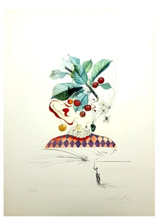 Lithographie Dali - Flordali - Cerises