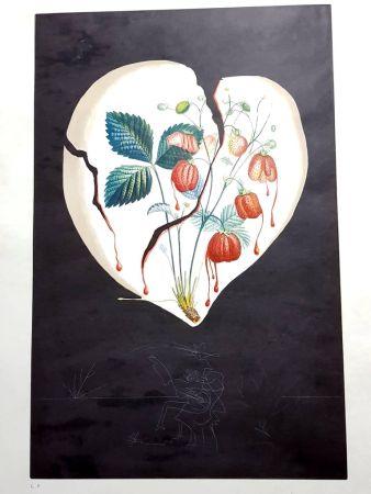 Lithographie Dali - Flordali - Coeur de Fraises