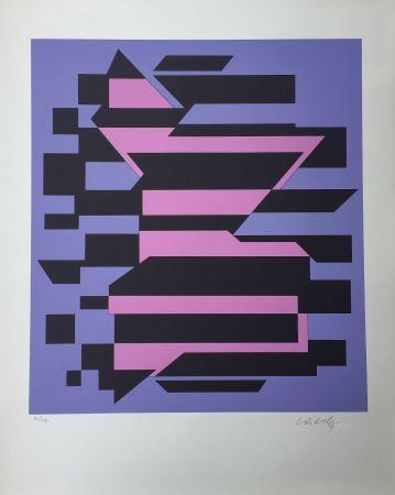 Sérigraphie Vasarely - Flores