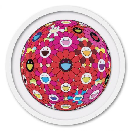 Offset Murakami - Flower Ball (3D) Red, Pink, Blue