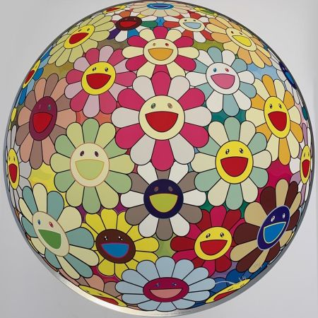 Sérigraphie Murakami - Flower Ball Margaret (3D)