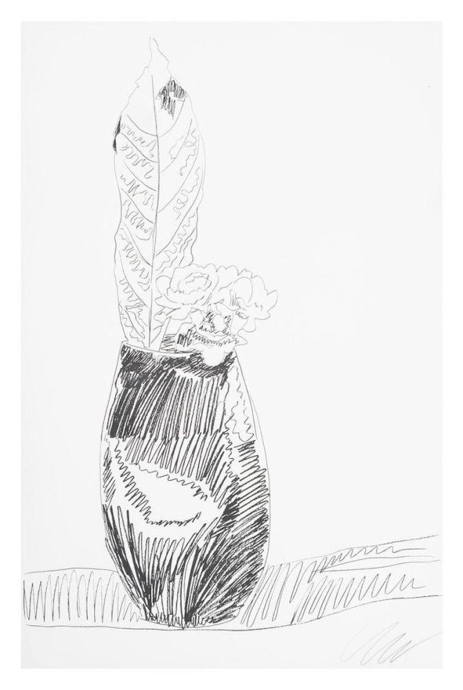 Sérigraphie Warhol - Flower (Black & White)