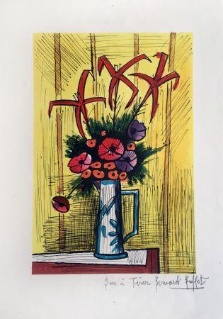 Lithographie Buffet - Flower Bouquet