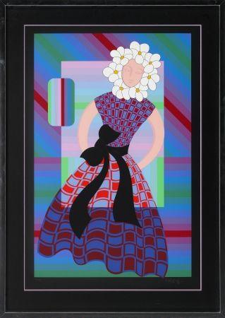 Sérigraphie Vasarely - Flower Girl