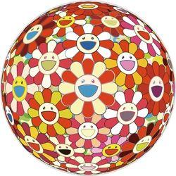 Sérigraphie Murakami - Flowerball 3D Goldfish