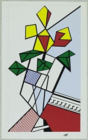 Sérigraphie Lichtenstein - Flowers