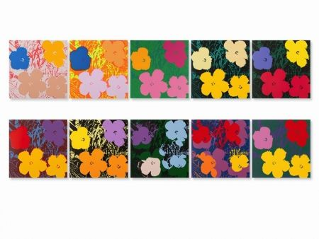 Sérigraphie Warhol (After) - Flowers