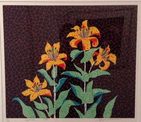 Sérigraphie Kusama - Flowers