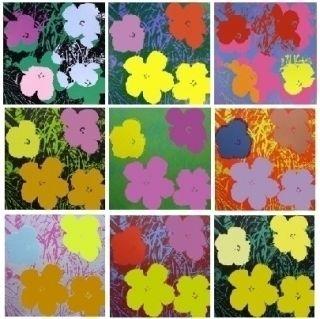 Sérigraphie Warhol - Flowers - 10 silkscreens