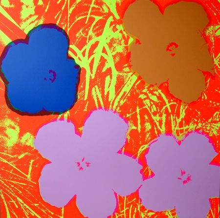 Sérigraphie Warhol (After) - Flowers 11.69