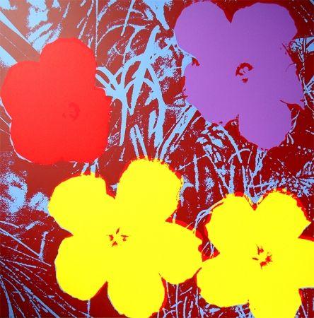 Sérigraphie Warhol (After) - Flowers 11.71