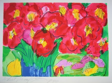 Lithographie Ting - Flowers 2