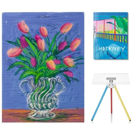 Aucune Technique Hockney - Flowers, B with SUMO book
