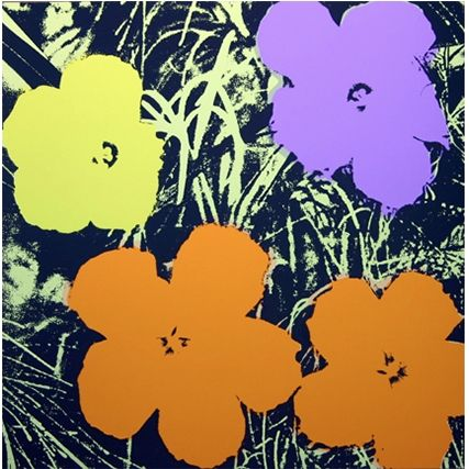 Sérigraphie Warhol (After) - Flowers (by Sunday B. Morning)