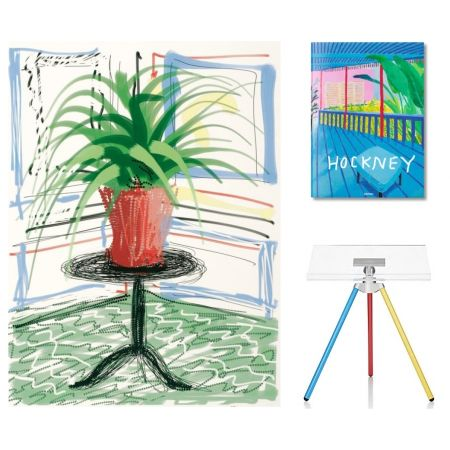 Multiple Hockney - Flowers, C with SUMO book
