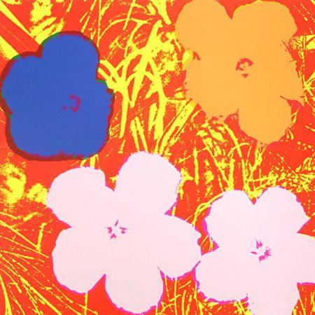 Sérigraphie Warhol - Flowers (FS II.69)