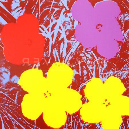 Sérigraphie Warhol - Flowers (FS II.71)