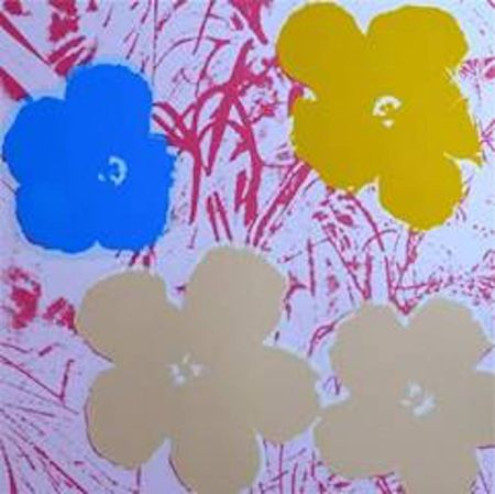 Sérigraphie Warhol (After) - Flowers II