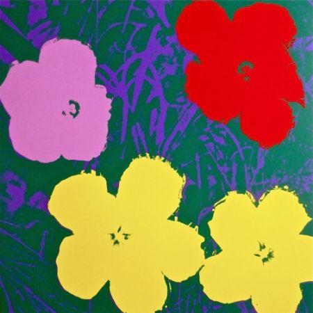 Sérigraphie Warhol (After) - Flowers IV
