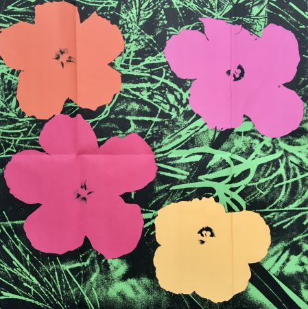Aucune Technique Warhol - 'Flowers (Leo Castelli Mailer)' 1964 Original Pop Art Poster