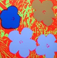Sérigraphie Warhol - Flowers red