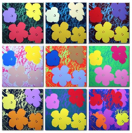 Sérigraphie Warhol (After) - Flowers Set of 10 (by Sunday B. Morning)