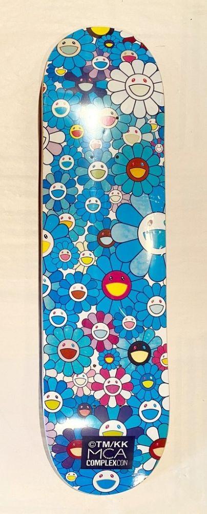 Sérigraphie Murakami - Flowers Skate Deck