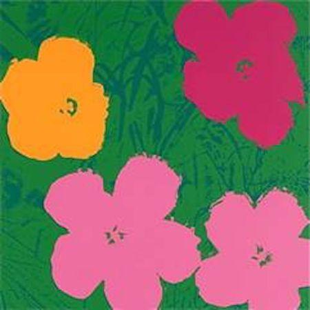 Sérigraphie Warhol (After) - Flowers V