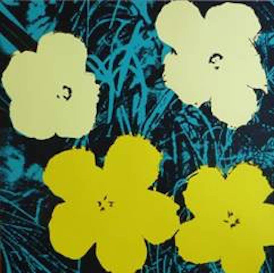 Sérigraphie Warhol (After) - Flowers VII